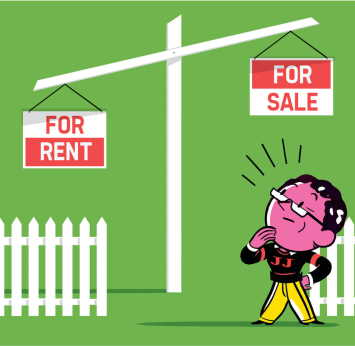 buying and renting a home