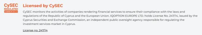 Iq Option regulation